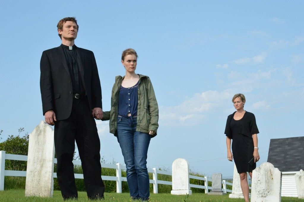 Anthony Shuster as Thomas Decker, Hilary Connell as Abigail Scott, and Crystal Allen as Laura Carlisle.